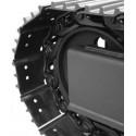 Paire de chaînes acier tuilées (largeur 300 - entraxe 101.6mm - 40 maillons)