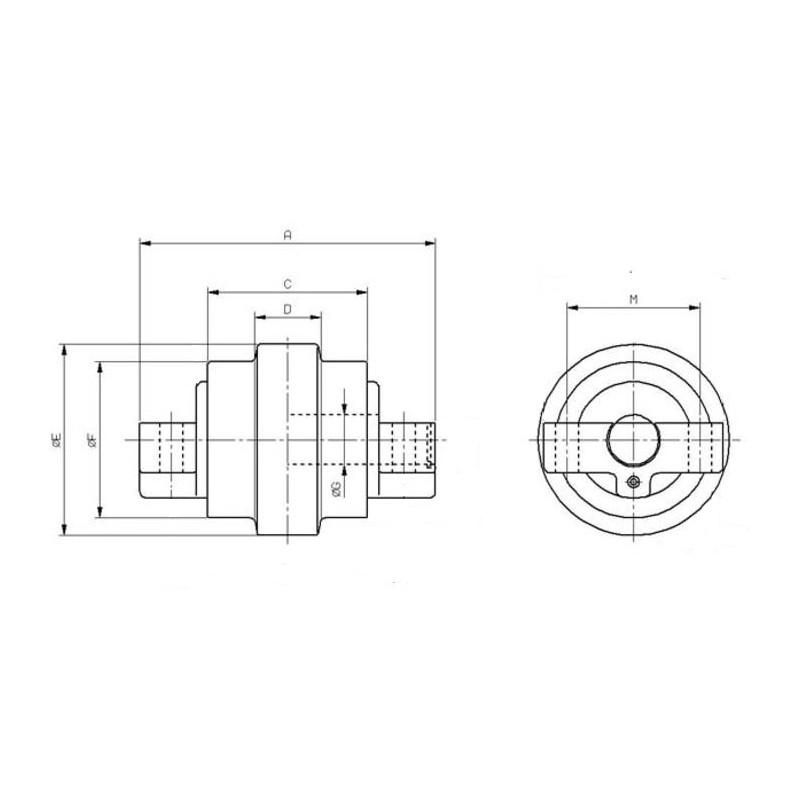 galet inf rieur pour mini pelle kubota kh35 kh36 kh41. Black Bedroom Furniture Sets. Home Design Ideas