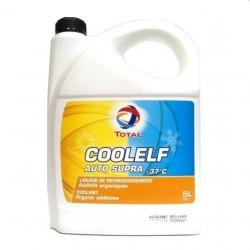 Liquide de refroidissement TOTAL COOLELF AUTO SUPRA -37°C pour machines TP - Bidon 5L