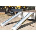 Paire de rampes aluminium longueur 2500mm