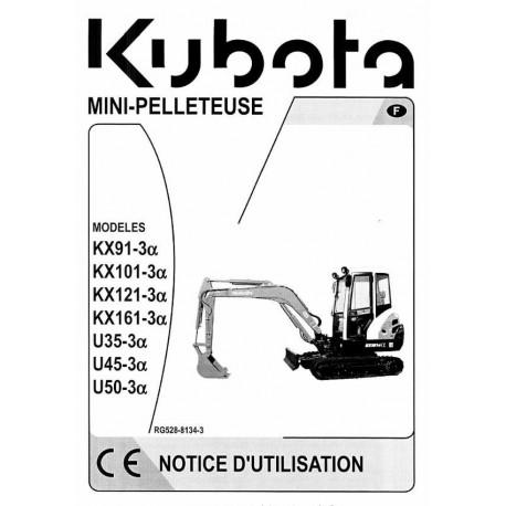 Manuel d'utilisation KUBOTA KX101.3 Alpha MANUEL-KX1013A