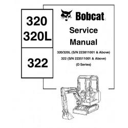 Manuel d'utilisation BOBCAT 320 / 320L / 322 - En Anglais MANUEL-320