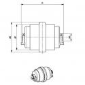 Galet inférieur PEL JOB EB306 UF040Z1C-PELJOB