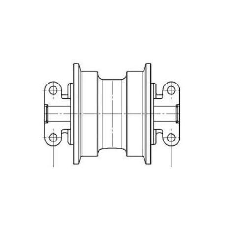 Galet inférieur KOMATSU PC60.5 / PC60.6 / PC60.7 / PC60U5 / PC70.6 UF106K0E-KOMATSU