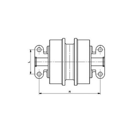 Galet inférieur GOMACO GP2500 / GP2500S / GP2600 UF112E0E-GOMACO