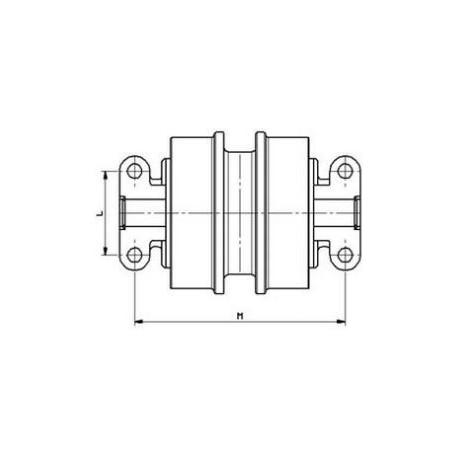 Galet inférieur SANDVIK DH400 / DHAT UF112E0E-SANDVIK