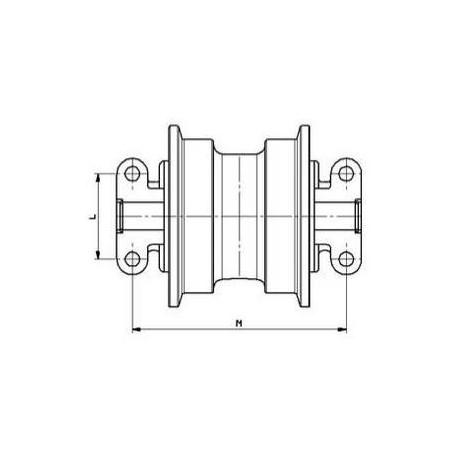 Galet inférieur HITACHI CHR70 / EX100.1 / EX100.2 / EX100.3  UF146H0E-HITACHI1