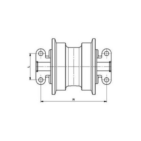 Galet inférieur JCB J110LC / JS115 / JS130 UF146H0E-JCB
