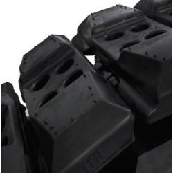 UW171C3L500 Tuiles caoutchouc à boulonner 500mm