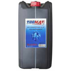 Huile de transmission TOOMAT 80W90 Bidon de 25L Multigrade pour machines TP Multigrade-25L
