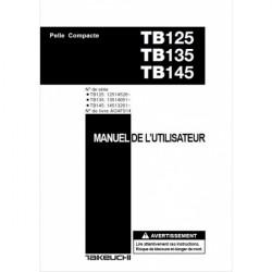 Manuel d'utilisation TAKEUCHI TB125 TB135 TB145 MANUEL-TB125