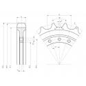 Barbotin KUBOTA K030 / K035 / KX91.2 / RX302 / U30 / U35 UR101V823-KUBOTA