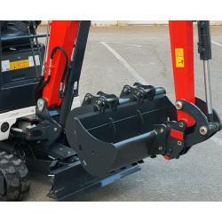 Pack 3 Godets (200/400/1000) + Attache Rapide 800kg-2T