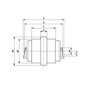 Galet inférieur HITACHI ZX17U-2 UF024Z8C