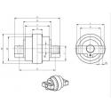 Galet inférieur KUBOTA KH027 / KH060 / KH51.2 / KH60 / KH61 UF031Z1C-KUBOTA