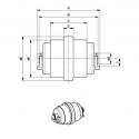 Galet inférieur CASE 15 / 16 / CX15 / CX16 DESTOCKAGE! UF023Z4C-CASE