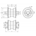 Galet inférieur LIEBHERR HS830 / HS832 / HS833 / HS841 UF173E5E-LIEBHERR1