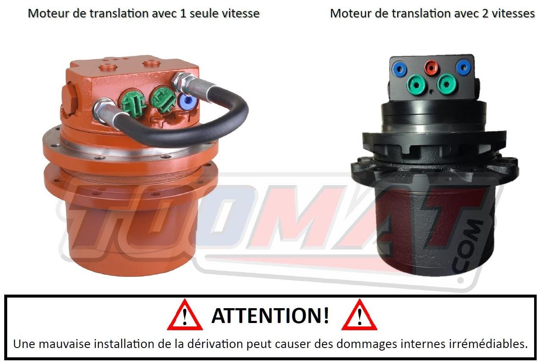 Installer moteur réducteur 1 vitesse et 2 vitesses