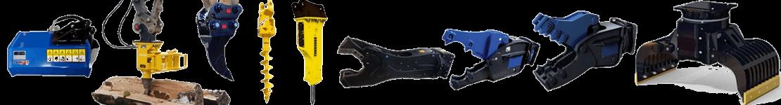 Equipements et accessoires pour mini pelle