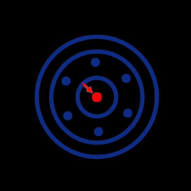 Diamètre de l'axe d'une roue folle de mini pelle