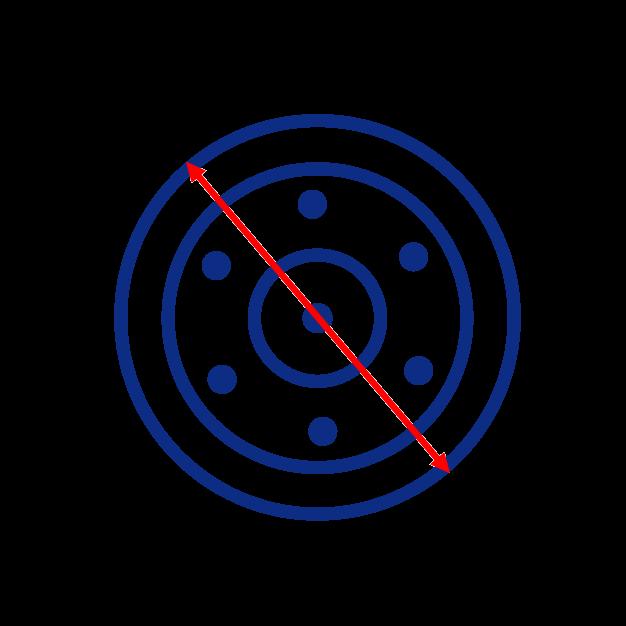 Diametre extérieur roue folle de mini pelle