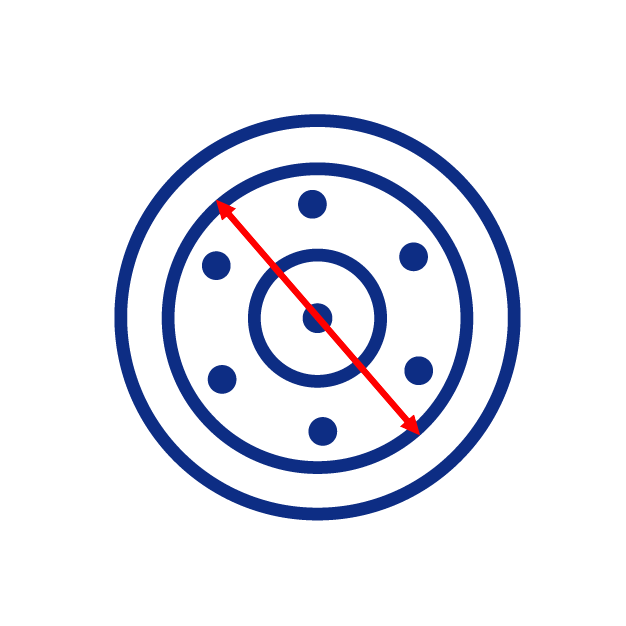 Diamètre intérieur d'une roue folle de mini pelle