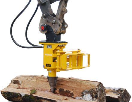Fendeuse à vis à bois rabaud pour mini pelle